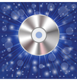 CD on a blue background vector image vector image
