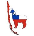 Chilean alpaca vector image vector image