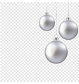 christmas balls isolated transparent background vector image vector image
