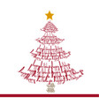 christmas tree made with words vector image vector image