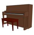 clasic piano on white background vector image vector image