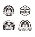 classic scooter emblem vector image vector image