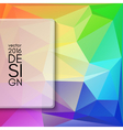 Colorful abstract design template vector image vector image