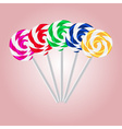 colorful sweet lollipops eps10 vector image vector image