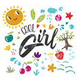 Cool girl to print T-shirts Hand lettering vector image vector image