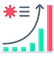 coronavirus case charts flat style icon vector image