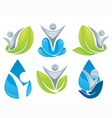 drop and leaves collection vector image vector image