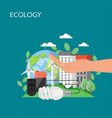 ecology concept flat style design vector image vector image