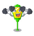 fitness lamps post collection in a cartoon vector image vector image