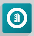 flat building icon vector image vector image