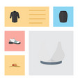 flat icon clothes set of elegant headgear uniform vector image vector image