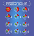 fractions apple on top vector image
