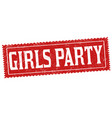 girls party grunge rubber stamp vector image vector image