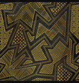 gold tribal geometric seamless pattern vector image
