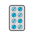 grey blister pack pills vector image vector image