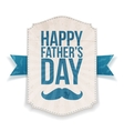 Happy Fathers Day textile Banner with Ribbon vector image vector image
