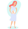 happy young woman expecting a baby vector image