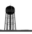 high and large water tower from the usa black on vector image