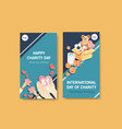 instagram template with international day vector image vector image
