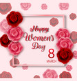 international happy womens day background with re vector image vector image