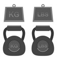 isolated dumbell gym weights design vector image vector image