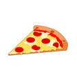 isolated tasty fast food slice pizza vector image vector image