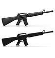 kalasnikov army firearm vector image