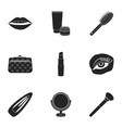 Make up set icons in black style Big collection vector image vector image