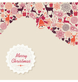 Merry Christmas vintage elements background file vector image vector image