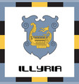 official government ensigns of illyria vector image vector image