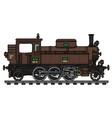 old brown tank engine steam locomotive vector image