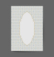 ornament pattern page cover layouts for wedding vector image vector image