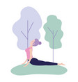 relax woman doing yoga exercise vector image