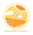 renewable energy solar energy vector image vector image