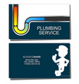 repair of water pipes and plumbing business card vector image vector image