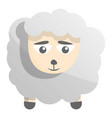 sad sheep icon cartoon style vector image vector image