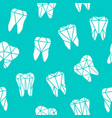 seamless background with symbols teeth vector image