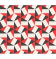 Seamless Black Red White Hexagonal vector image vector image