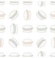 seamless pattern burger scetch vector image vector image