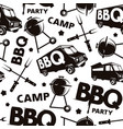 seamless pattern for barbecue festival vector image