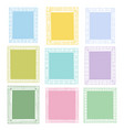 set doodle colored borders isolated on white vector image vector image
