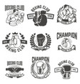 set of boxing club labels design elements for vector image vector image