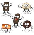 set of chocolate cartoon vector image