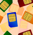 sim card seamless wallpaper vector image vector image