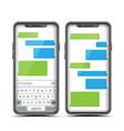 social messenger speech bubbles vector image