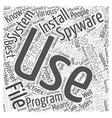 Spyware Blaster Word Cloud Concept vector image vector image