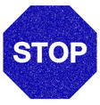 stop sign icon grunge watermark vector image vector image