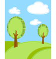 stylized trees background vector image