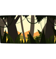 sunrise in tropical jungle greenwood background vector image