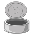 Tin of the bank vector image